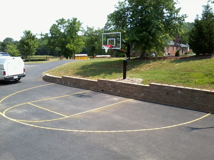 9 best diy basketball court images on pinterest for How to build your own basketball court
