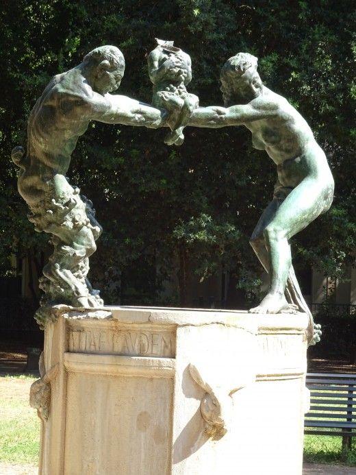 Rome park sculpture