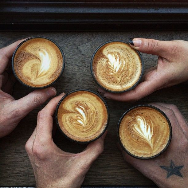 Cheers at Gasoline Alley Coffee / photo by Patrick Janelle