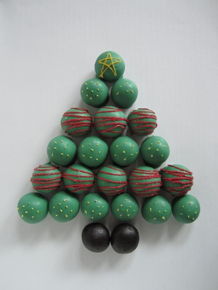 Creative Food: Christmas Tree Cake Balls
