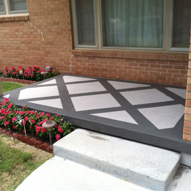 how to make a concrete patio look nice