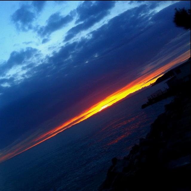 #Trieste, barcola, #sunset