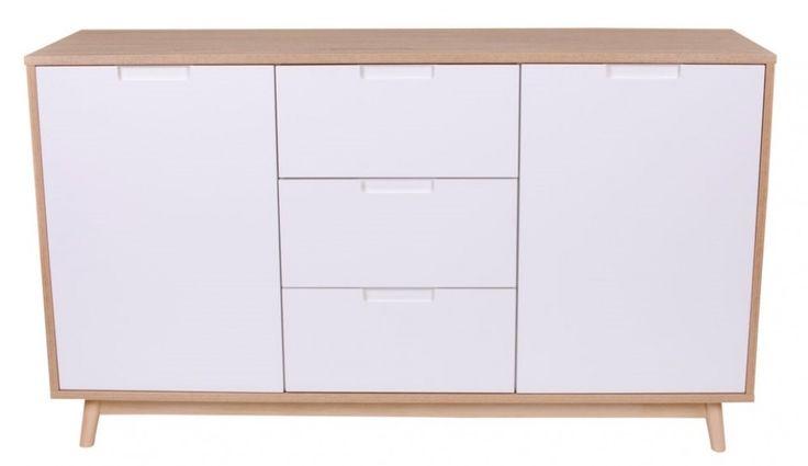 House Nordic Copenhagen senkki, värivaihtoehtoina valkoinen/tammi ja valkoinen/musta
