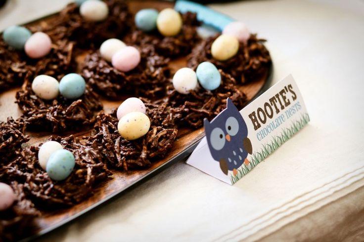 chocolate owls nests