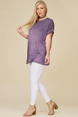 Mineral Wash Plus Size Top by Tres Bien Clothing