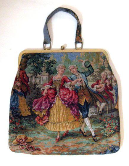 Vintage tapestry bag via eBay