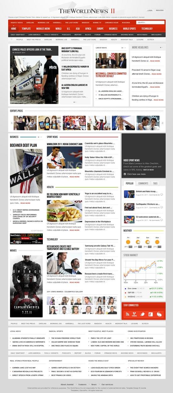 The 32 best GavickPro images on Pinterest | Joomla templates, Design ...