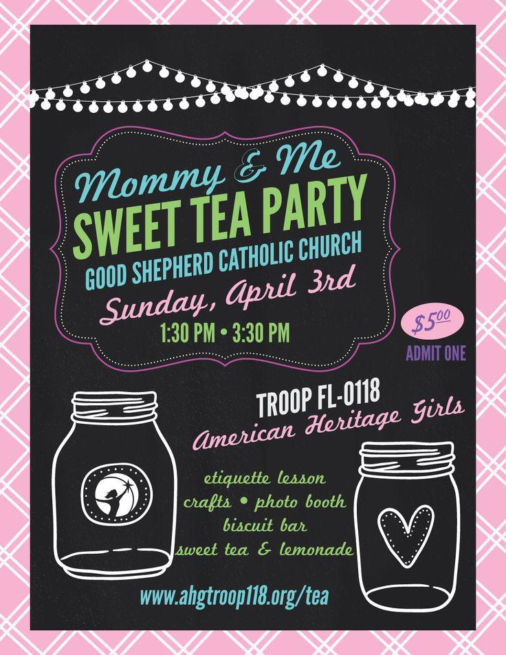 Mommy & Me Sweet Tea Party | American Heritage Girls Troop FL-0118