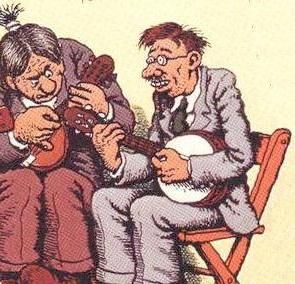 "Robert Crumb - detail from the cover of ""Cheap Suit Serenaders Number 2"""