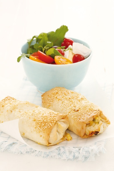 Phyllo fish parcels