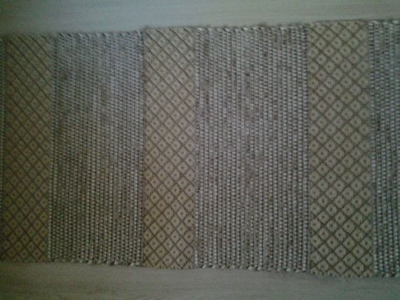 Handwoven mat made of cotton and jute. by Eevasroom on Etsy