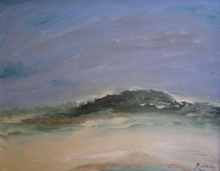 Beach – oil on canvas