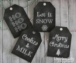 LizzieJane Baby: Cookies & Milk for Santa Printable