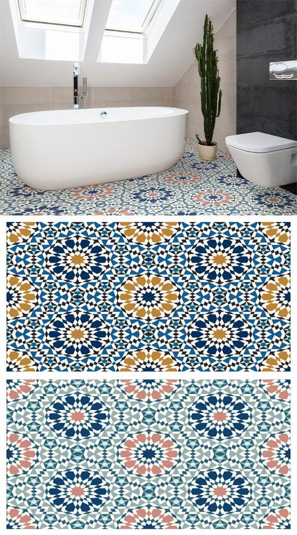 Marrakech Is A Moroccan Pattern Vinyl Flooring Design That Features A Circular Mosaic Effect Pattern That Is Inspired By Traditional Arabic Floor Designs With