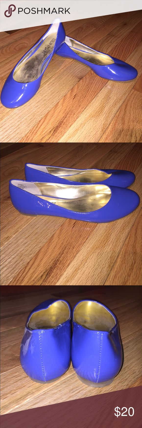 Colin Stuart Ballet Flats Shoes Colin Stuart Royal Blue Ballet Flats. Size: 7.5 B. Excellent Condition, worn only once. Patent leather like material. Colin Stuart Shoes Flats & Loafers