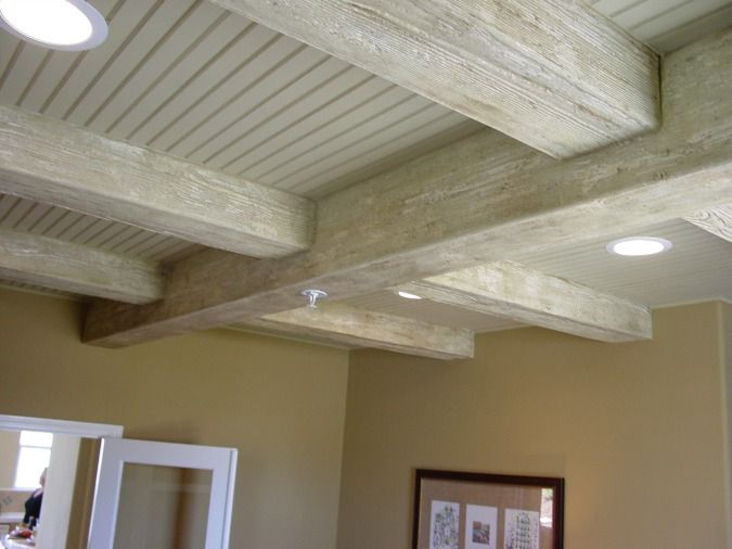 Arizona faux beams how to easily install beautiful wood for Fake wood beams for ceiling