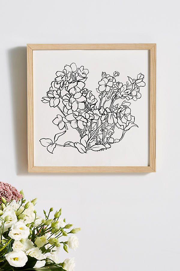 Winter Flower Wall Art Flower Wall Art Pretty Wall Art Cactus Wall Art