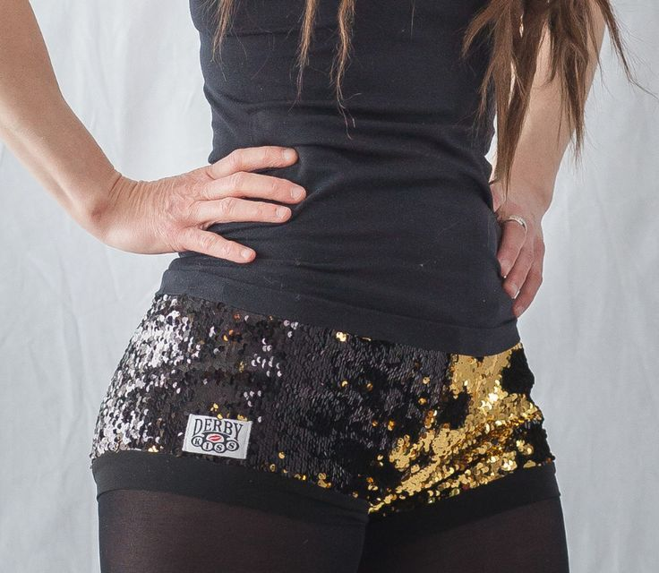 I need this someday!! Black and Gold sequin color changing shorts