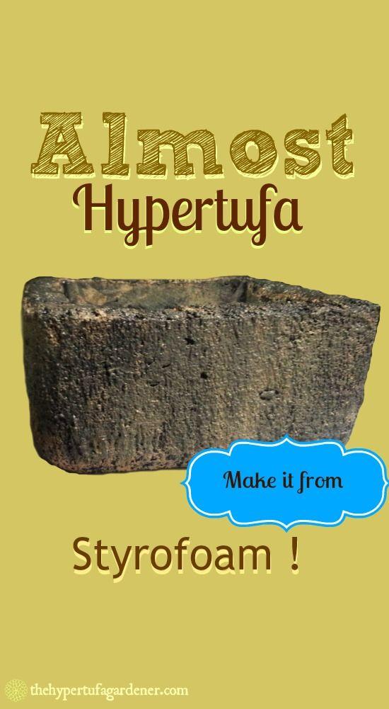 Almost Hypertufa Trough from A Styrofoam Box? No Way!