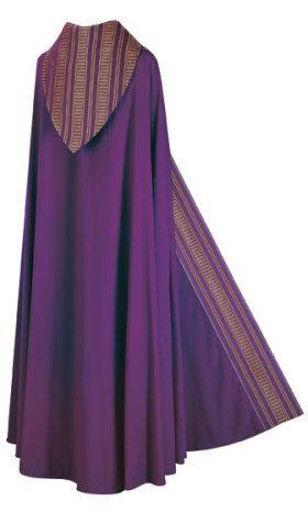 Capa pluvial sin estola •Capa pluvial•, sin forro; longitud estándar 145 cm, o a medida. En Brugia, tejido ligero y suave de 100 % lana. Las bandas de los ornamentos son confeccionados en Ornata, un t