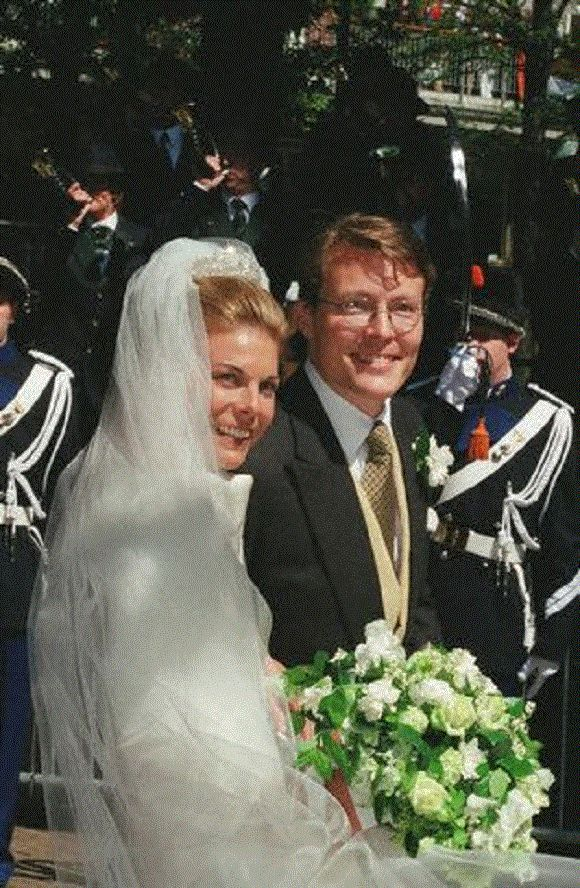 Laurentien Brinkhorst and her husband, Prince Constantijn of the Netherlands, wed on 19 May 2001