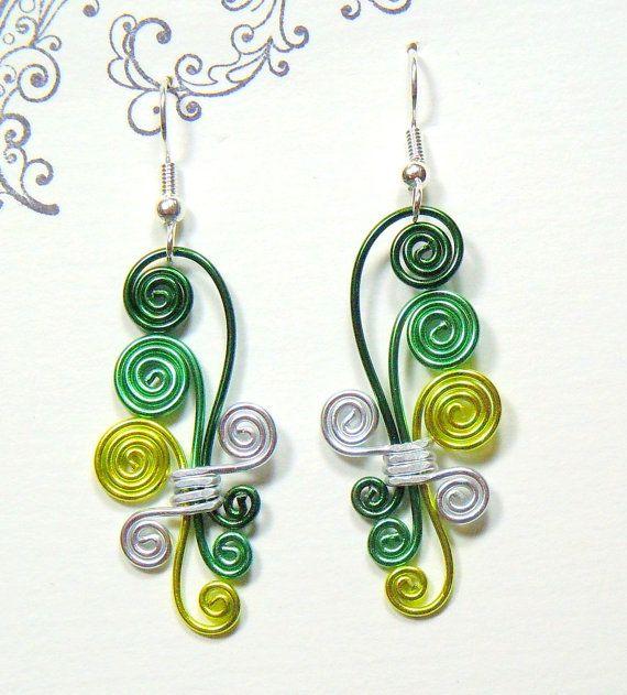 Cascading Spiral Wire Earrings @Carolyn Fridley - Summer project?