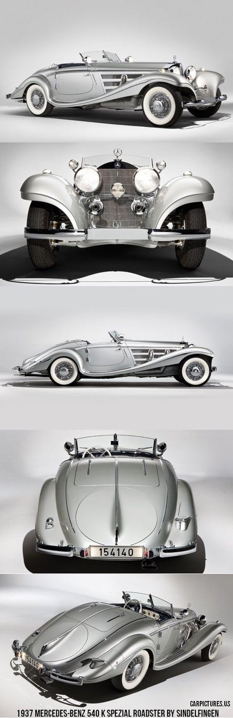 Beautiful 1937 Mercedes-Benz 540 K Spezial Roadster by Sindelfingen. #mybsisboss