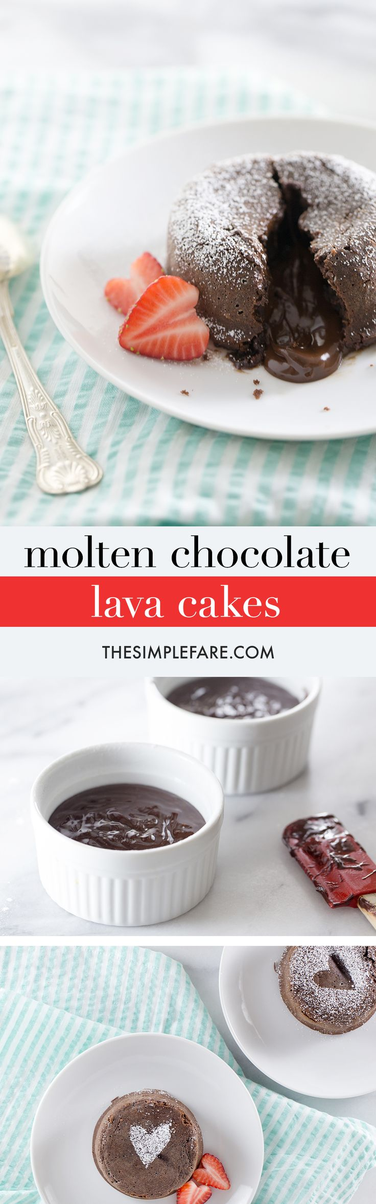 Make this impressive Chocolate Lava Cake recipe in under 30 minutes. This chocolate cake is rich and moist, with the perfect gooey filling inside.
