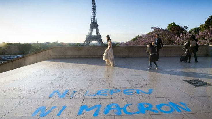 Now in the final stretch before a decisive May 7 presidential vote, France is seeing some parallels with the political mood in the United States just before the November upset that propelled Donald Trump to the presidency.