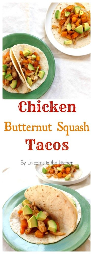 bored with the old type of tacos? want to try a new one? these chicken butternut squash tacos are for you! sweet and savory together!