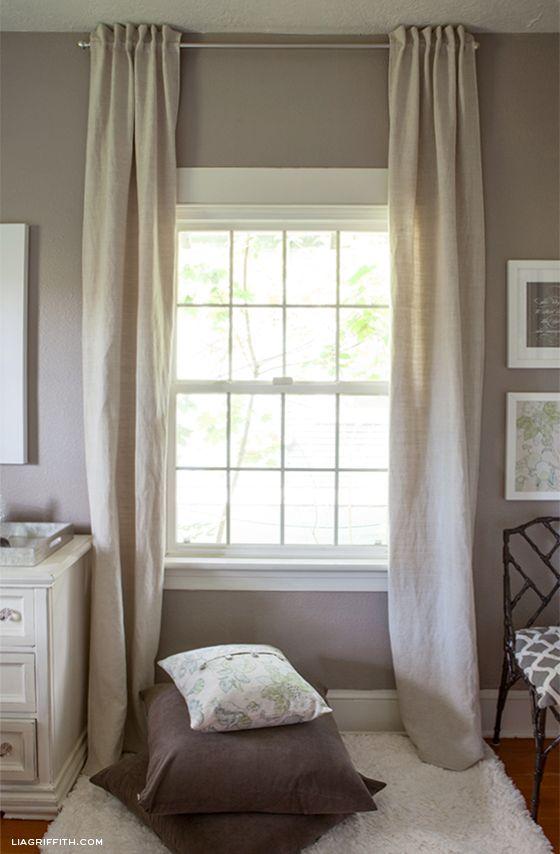 DIY Back Tab Curtains | Lia Griffith