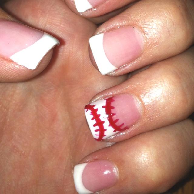 Baseball nails by Ashley Needham