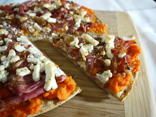 Ham, Caramelized Onion, & Gruyere Pizza Recipe — Dishmaps