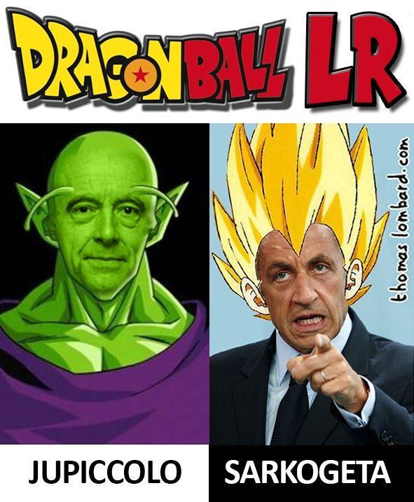 Quand la primaire des Républicains ressemble à un affrontement digne de Dragon Ball Z, ça donne Juppiccolo contre Sarkogeta. #vegeta #picolo #sarkozy #juppé #lesrepublicains #fion