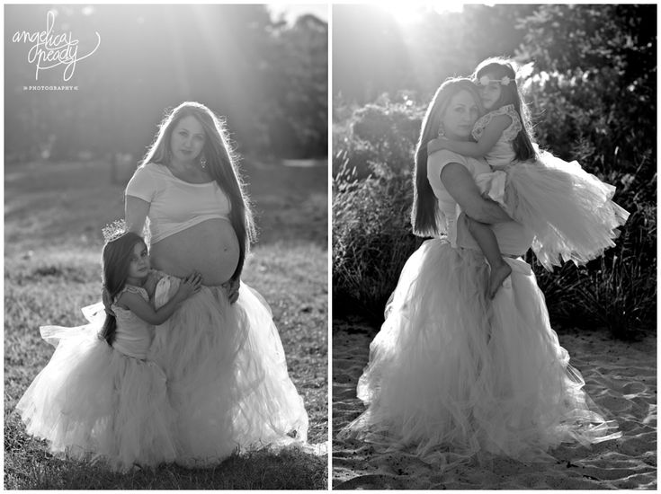Maternity portrait with tulle skirts. Sydney portrait photography.