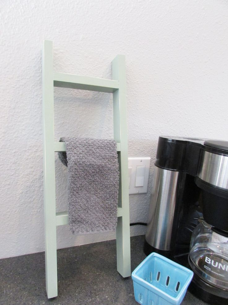 Towel Ladder, Small Ladder, Small Wooden Ladder, Hand Towels by WillowMarketOnline on Etsy