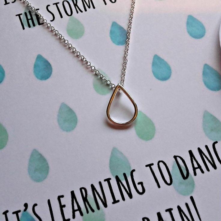 Raindrop Keepsake Necklace Card