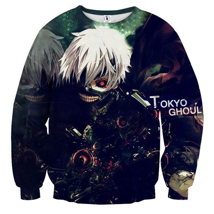 Tokyo Ghoul Anime Perfect Design Dope Full Print Sweatshirt — Konoha Stuff #tokyoGhoul #Anime #Perfect #Sweatshirt #Konoha