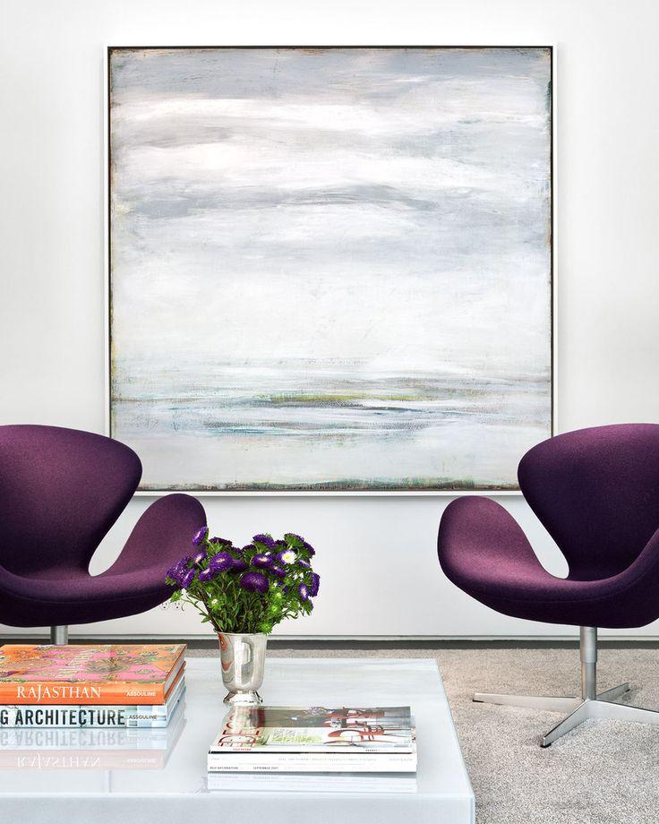 Deborha Berke | West 12th St Loft Arne Jacobsen Swan Chairs Here: http://www.paletteandparlor.com/products/arne-jacobsen-swan-chair-3320