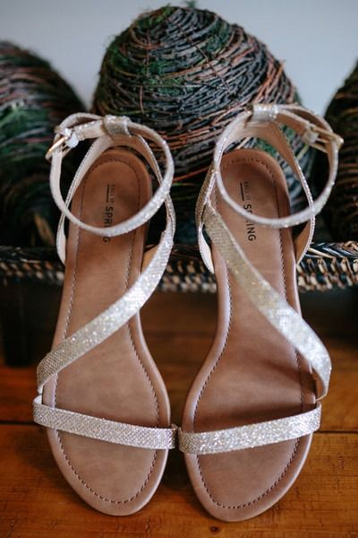 Summer wedding shoes - strappy sandal flats for bride {Brandy Angel Photography}