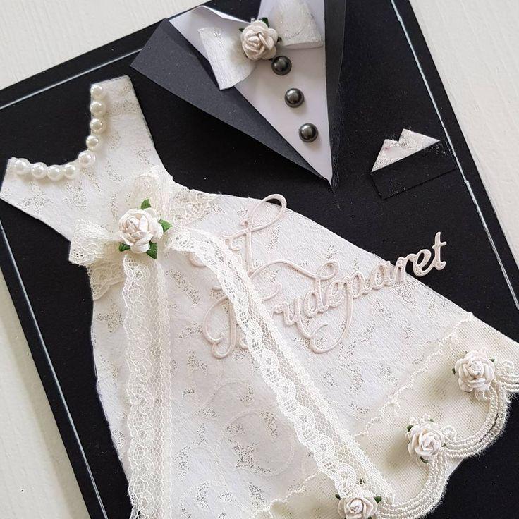 "141 likerklikk, 12 kommentarer – Mette Rønning Buskum (@mettebuskum) på Instagram: ""Kort til brudeparet #bryllup #bryllupskort #papercraft #craft #weddingcard #homecard #mettekort…"""