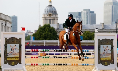 Is there anything these guys CAN'T do? Arthur Lanigan O'Keeffe of Ireland riding Wilcox competes in the Riding Show Jumping in the Men's Modern Pentathlon Photograph: Alex Livesey/Getty Images - http://www.PaulFDavis.com/success-speaker (info@PaulFDavis.com)