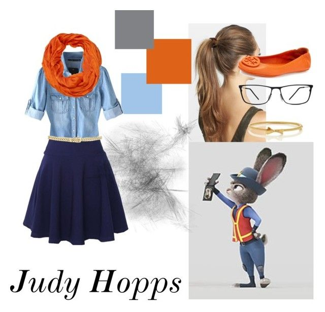 """""""Judy Hopps (Zootopia)"""" by tadashi-is-not-on-fire ❤ liked on Polyvore featuring France Luxe, Chicnova Fashion, QNIGIRLS, Tory Burch, AtStyle247, Lilly Pulitzer, Kate Spade and GlassesUSA"""