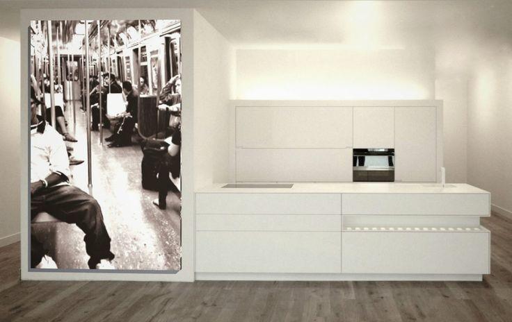Roel de Roel de Vos designkeuken. Minimalistische architectuur.