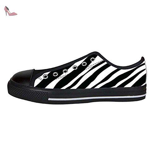 Dalliy bande de z¨¨bre Men's Canvas Shoes Lace-up High-top Footwear Sneakers Chaussures de toile Baskets - Chaussures dalliy (*Partner-Link)