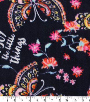 "Anti-Pill Fleece Fabric 59""-Enjoy The Little Things Butterfly"