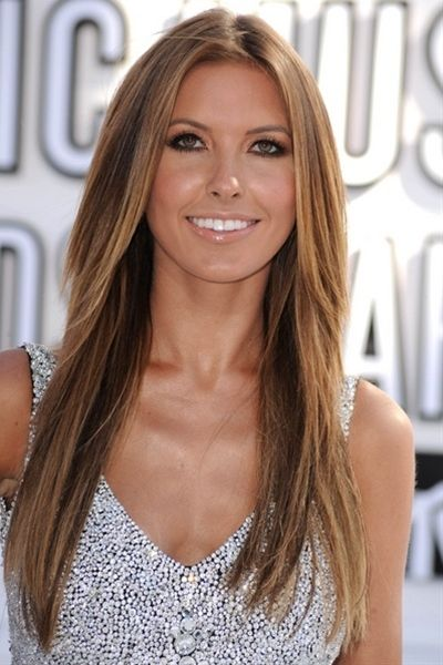 light brown hair with caramel highlights - Click image to find more Hair & Beauty Pinterest pins