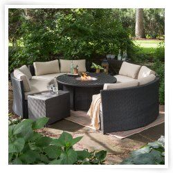 132 besten outdoor sofas decor fire pits and fireplaces bilder