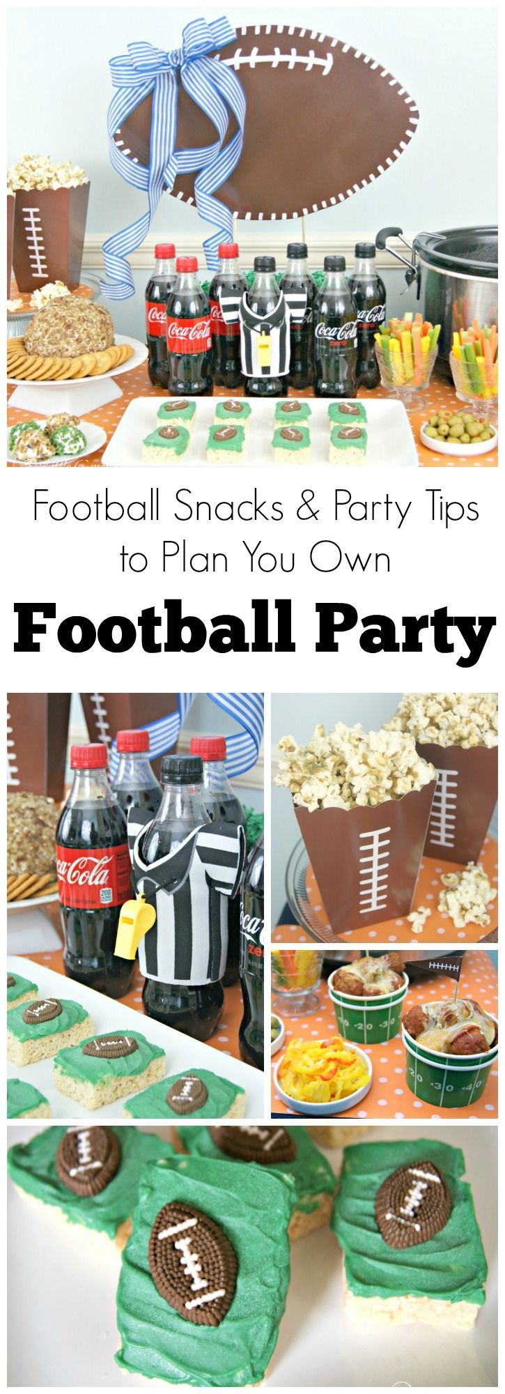 Host the best Super Bowl Party EVER! Plan a football party with simple tips for hosting a Super Bowl Party with football party food ideas and DIY decorating for a football party!