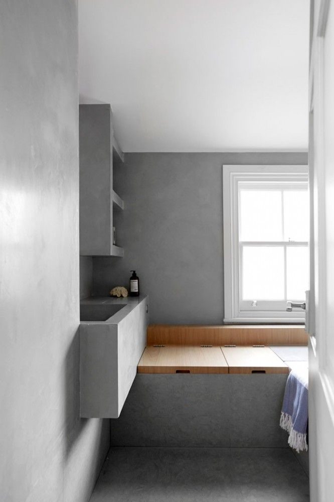 Clean lines in white and wood - via cocolapinedesign.com